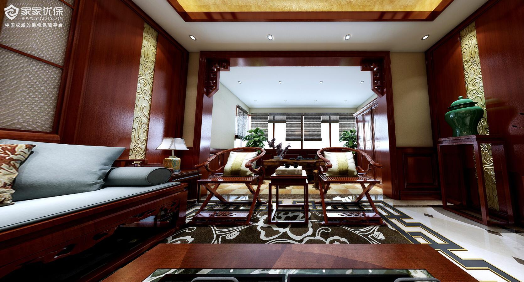 别墅中式装修风格3DVR效果图