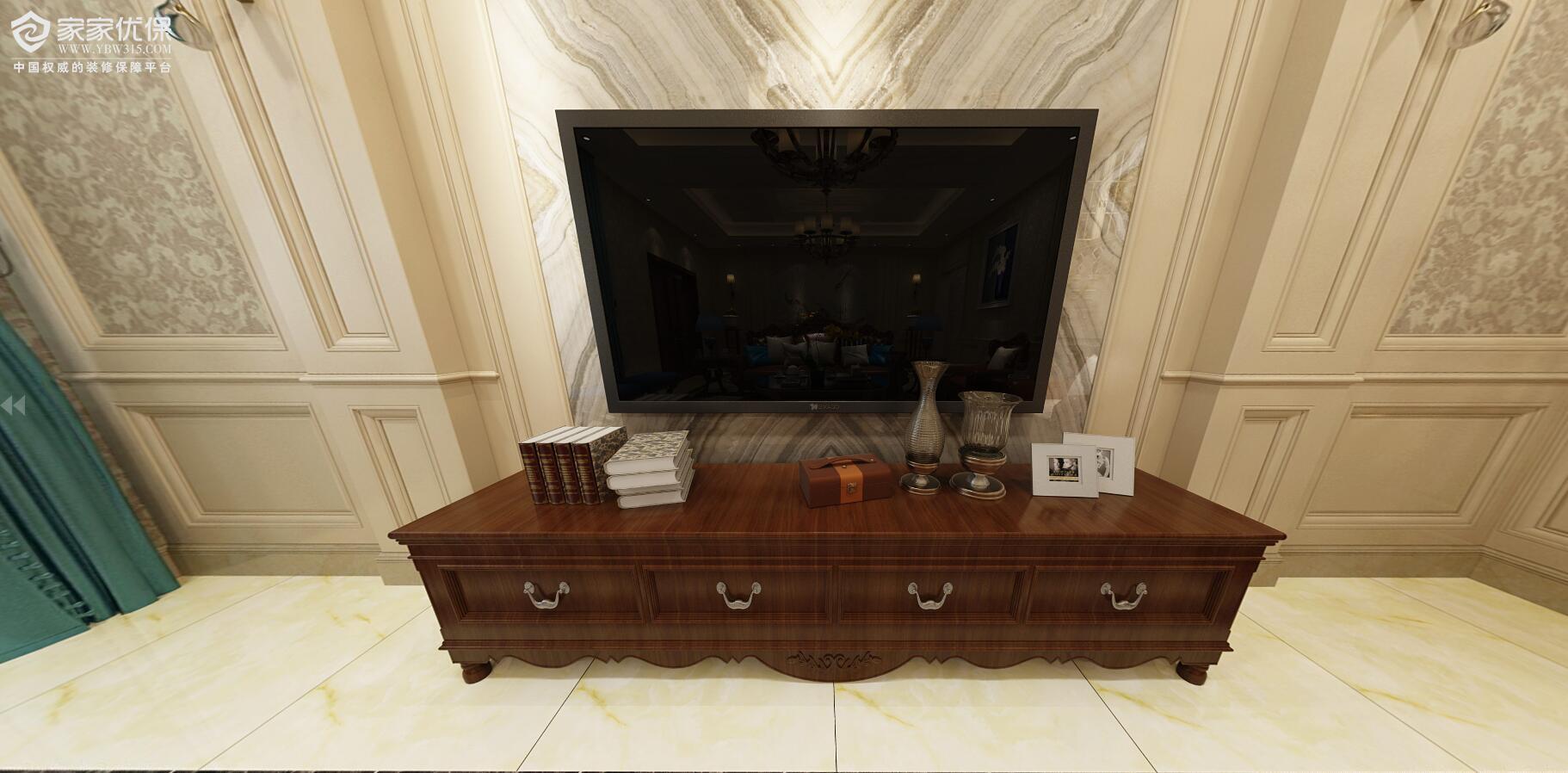vr全景美式客厅3d效果图
