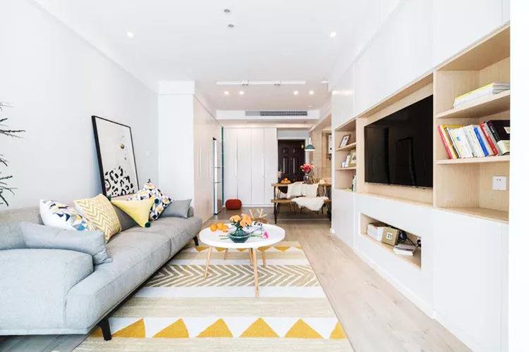 88㎡两居室装修,木质的自然营造了现代简约的氛围