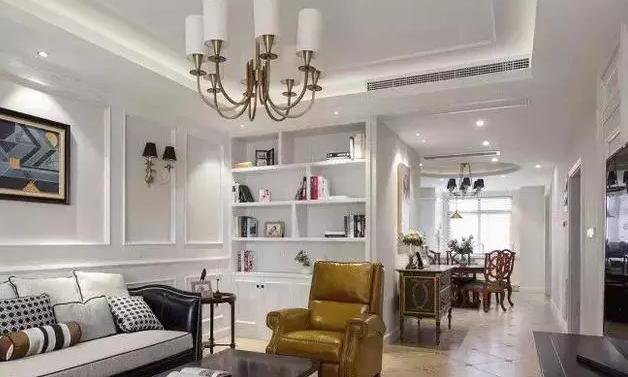 140平米三室两厅装修案例,美式风格装修时尚又大气