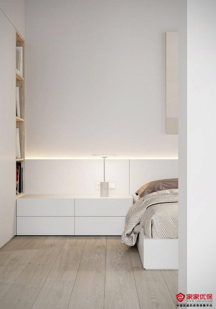 一居室极简风格装修案例,餐桌与岛台的完美结合
