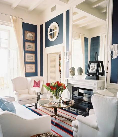 地中海风格装修效果图,客厅卧室装修的浪漫之选