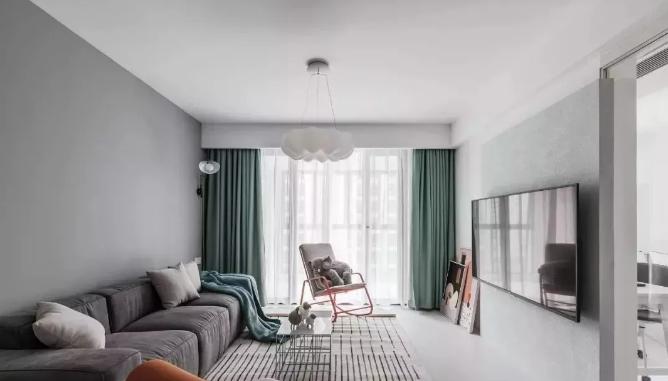 北欧风格装修效果图,蓝色和粉色搭配让家变得活泼