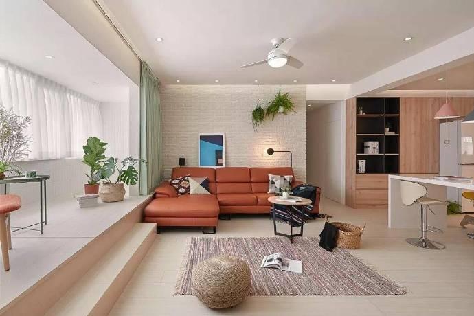 北欧风轻甜公寓设计,软装搭配非常巧妙