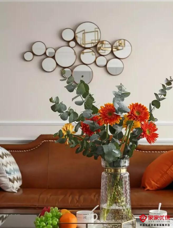 120平米简约美式风格装修案例,客厅设计时尚又漂亮