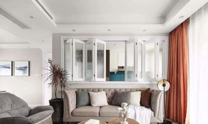 128㎡时尚现代三居室,温馨实用的混搭设计