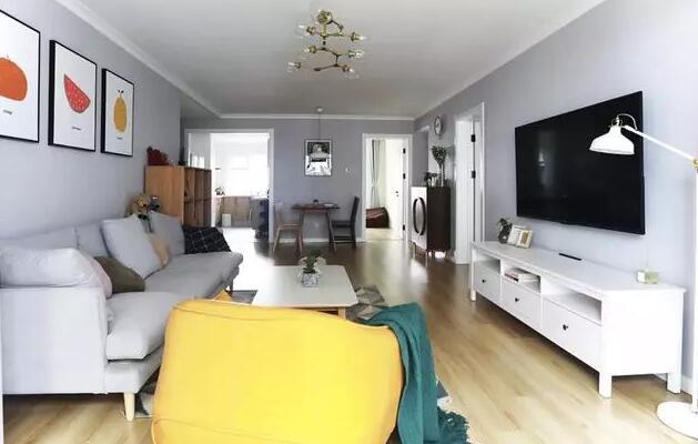 100平米北欧风格装修效果图,全屋墙面使用灰色也很美