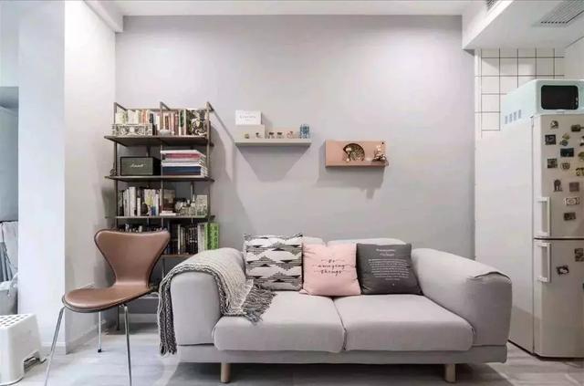 简约北欧风公寓装修案例,现代感十足的一居室空间