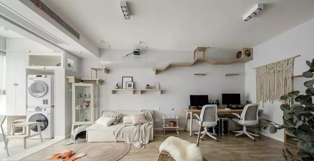 68平北欧风格装修效果图赏析,清新文艺且惬意的幸福之家