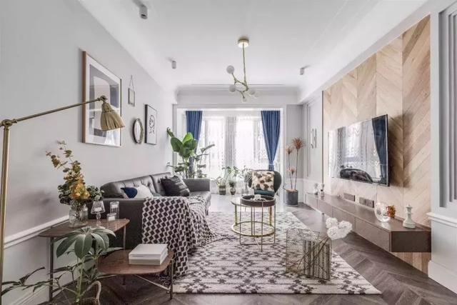 90㎡自然系北欧风装修案例,恬淡闲适的两居室