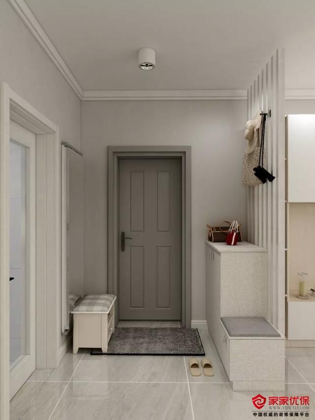 80平简约风格旧房改造装修案例,大量的储物设计非常实用