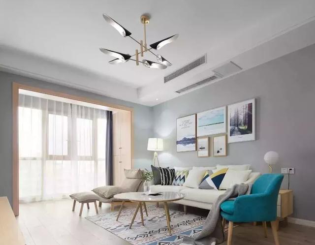85㎡北欧风小公寓装修效果图,灰色与原木色简直绝配