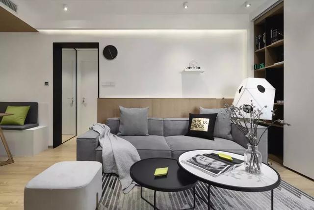 65㎡现代风格两居室装修案例,布局紧凑又实用