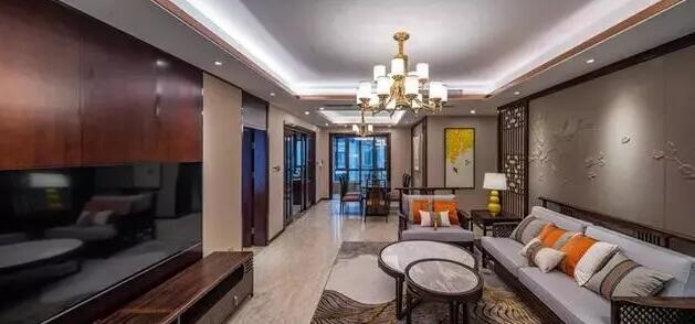 大户型中式风格新房装修效果图,从家具到灯光设计都很漂亮