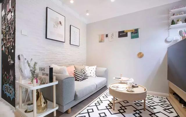 32㎡北欧风公寓装修效果图,清新的粉色舒适家居