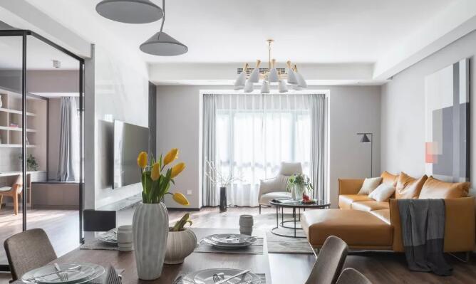 大户型现代风格新房装修效果图,全屋只刷大白墙时尚又美观