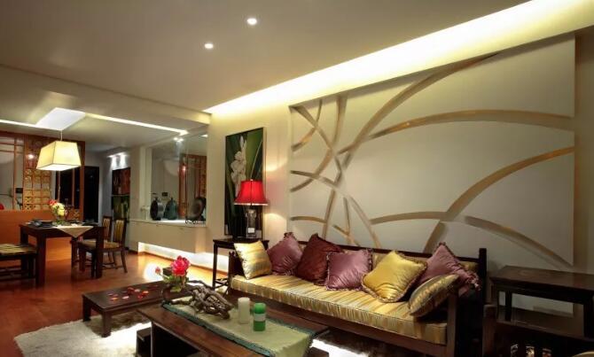 90平米东南亚风格新房装修效果图,全包花10万效果还不错