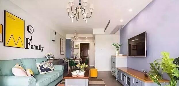 现代美式风格装修案例,浅彩色搭配白色清新又雅致