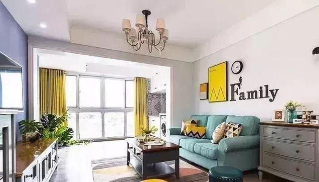 现代美式风格三居室装修,多彩的配色非常年轻化